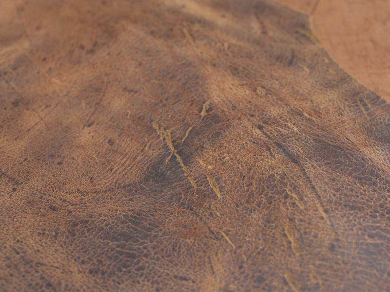 クーズー 革の風合い