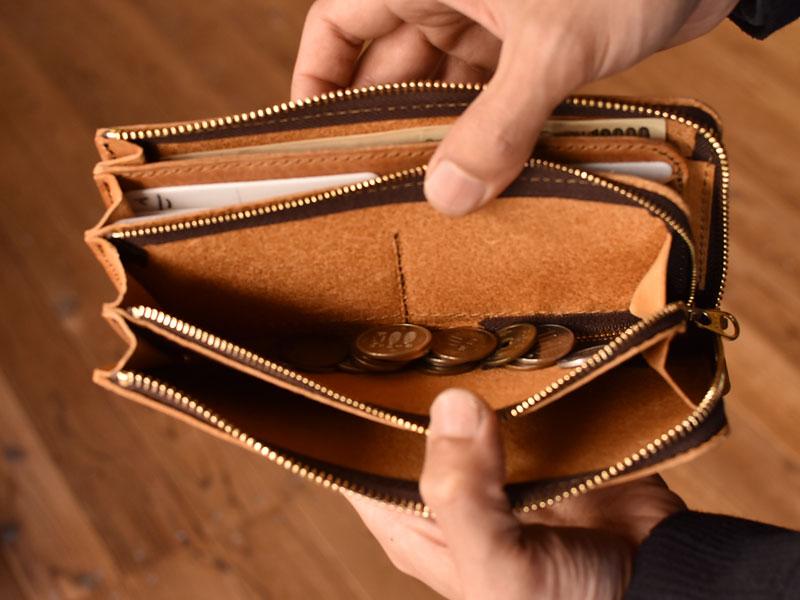 長財布(GS-27)の特別仕様 小銭入れ