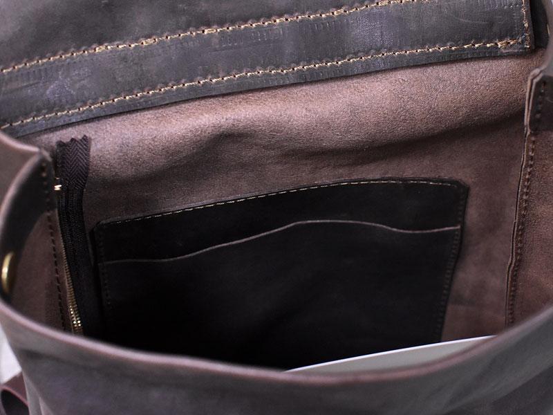 ユーフラテを使ったリュックサック 内ポケット