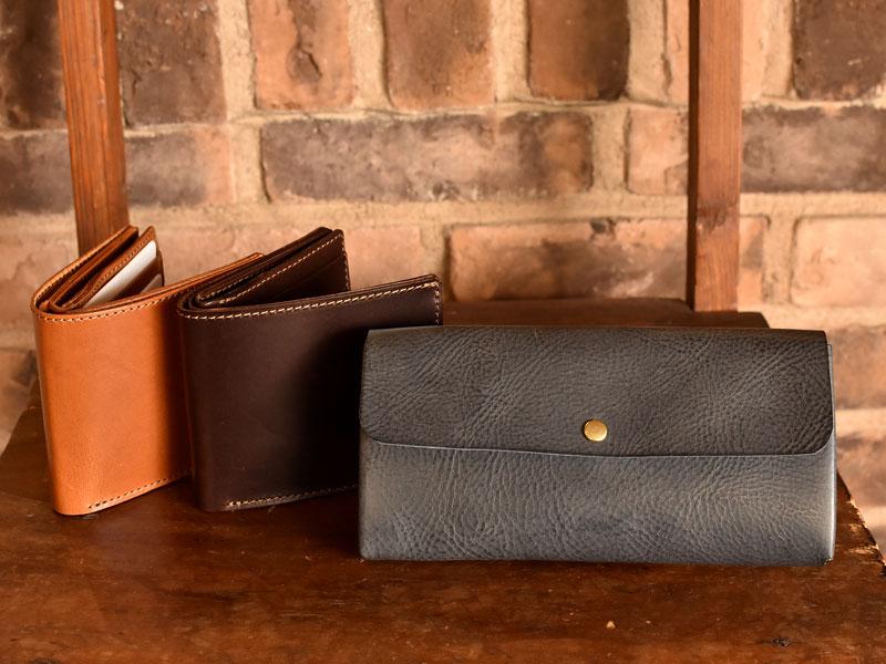 ボックス型の二つ折り財布とかぶせの長財布