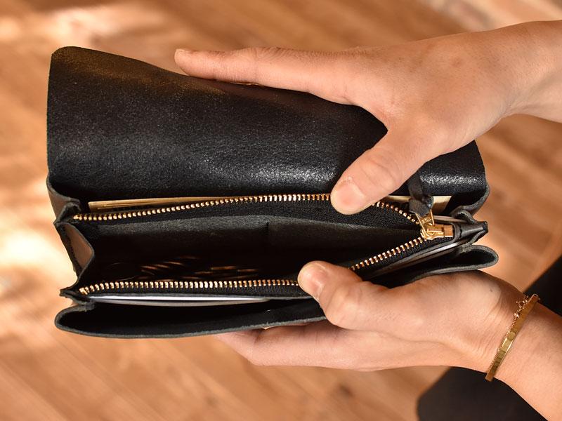 かぶせの長財布 小銭入れ
