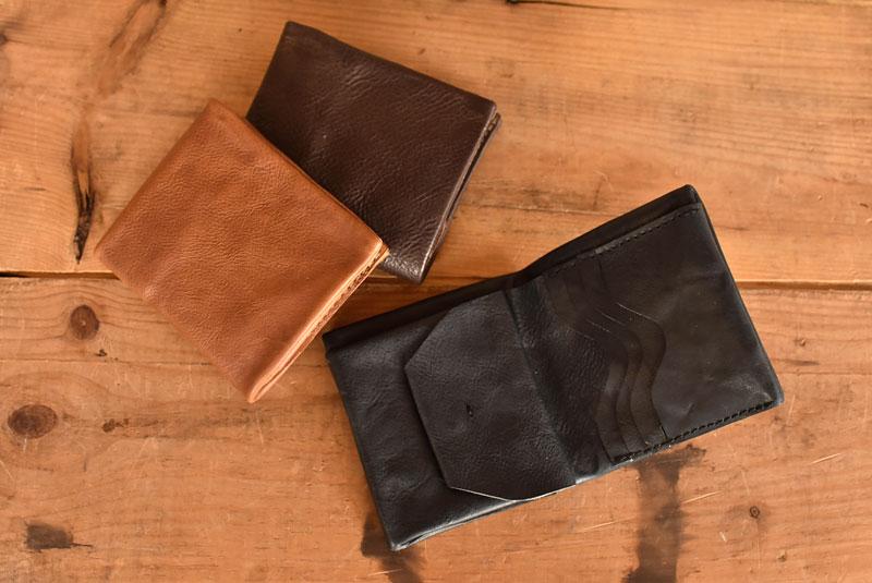 ユーフラテの二つ折り財布 ホックタイプ革色