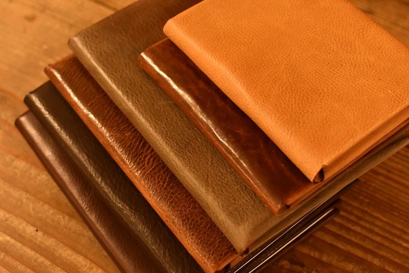 ミッスーリで作ったブックカバーとノートケース