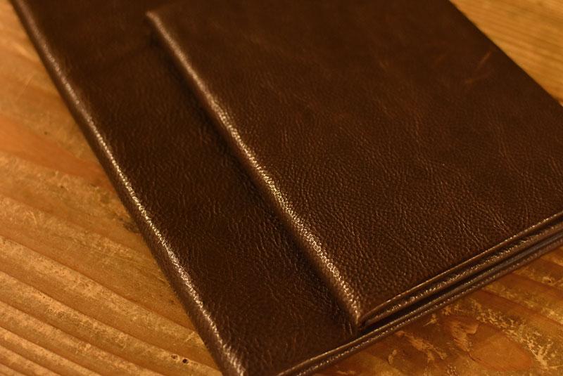 ユーフラテで作ったブックカバーとノートケース