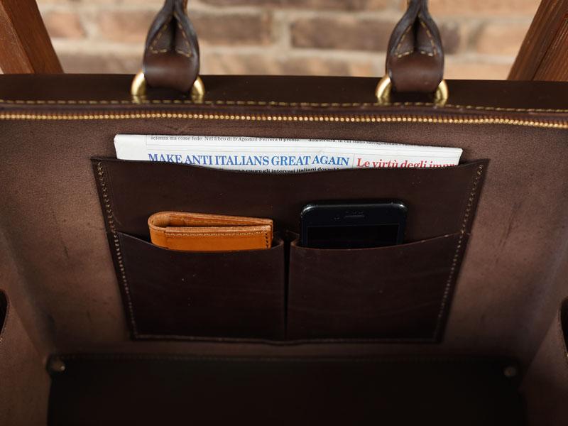 2本手ブリーフケース 内ポケット収納例