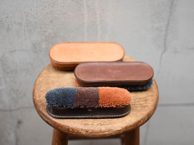Organカラーの羊毛革ブラシ