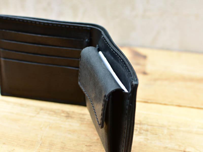 かぶせ財布フタ裏カード