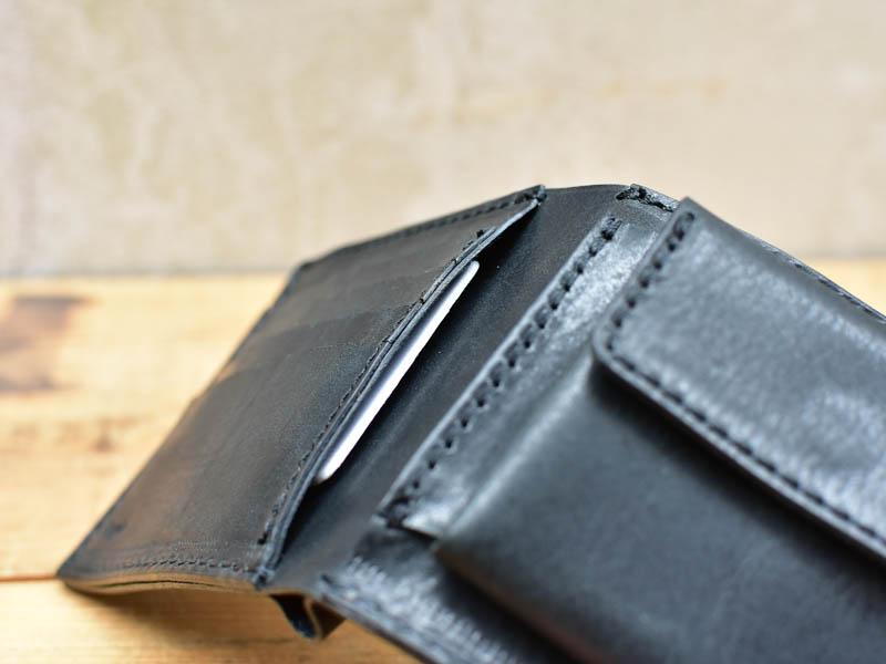 かぶせ財布左カード