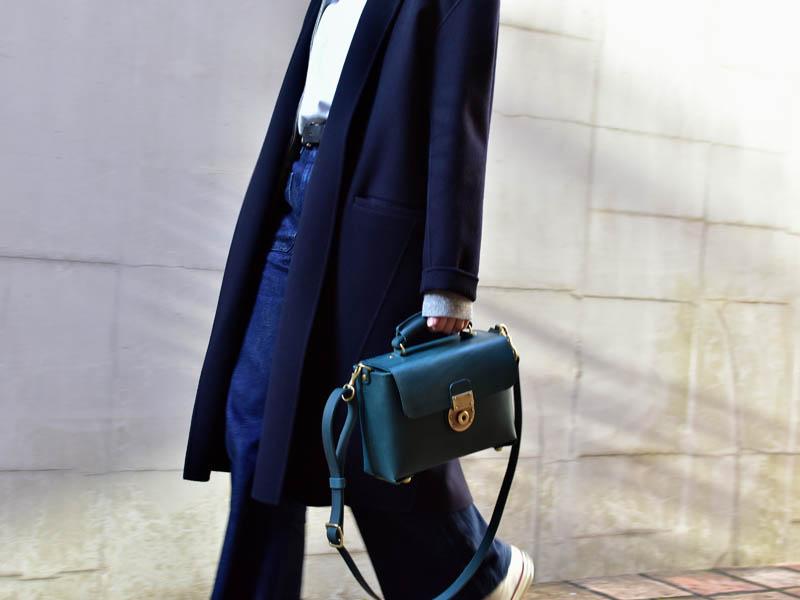 新錠前の2way箱型鞄